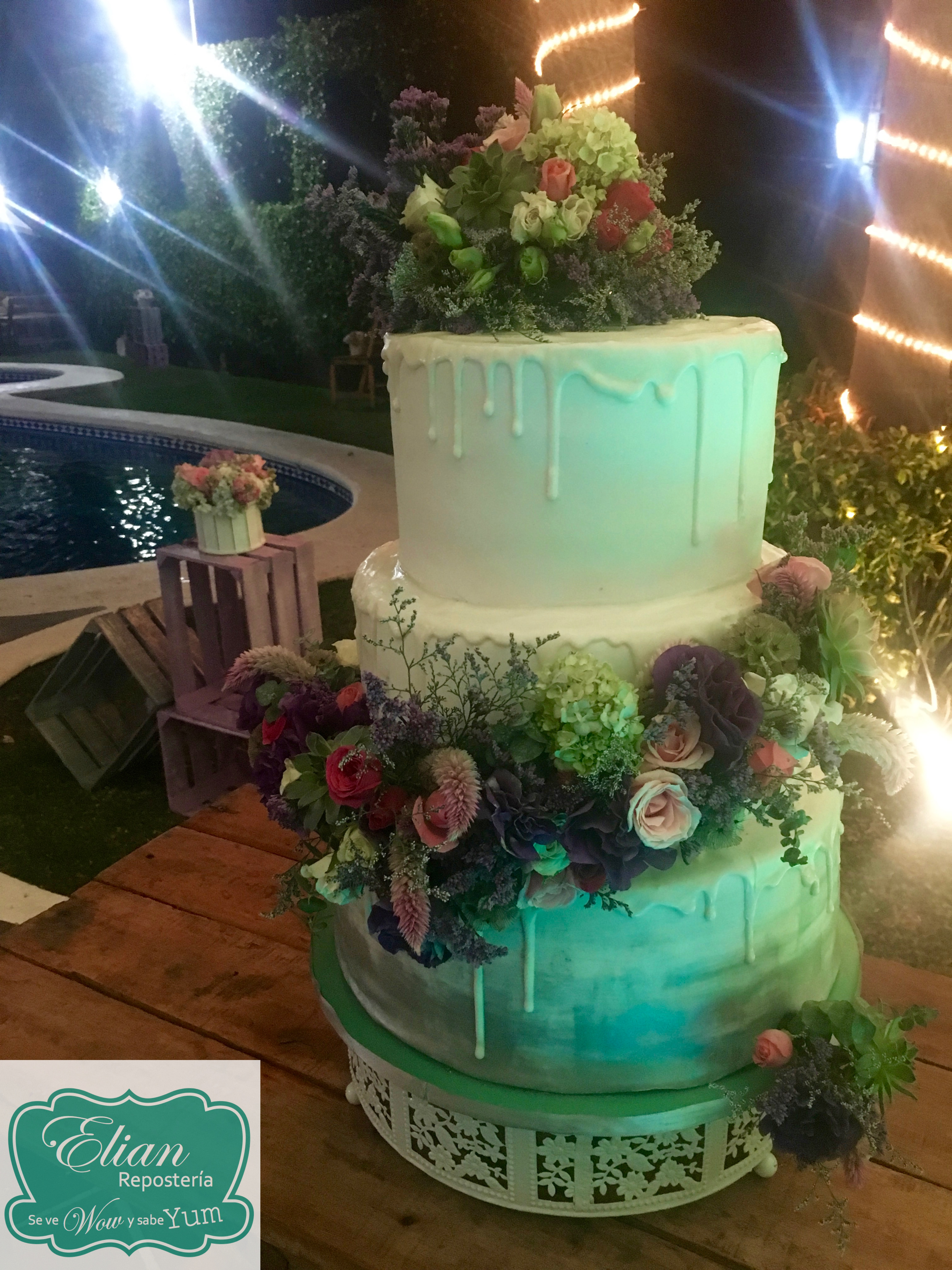 Pastel rustico boda mexico