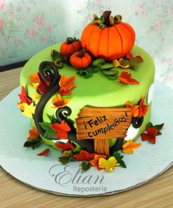 Pastel de otoño fondant
