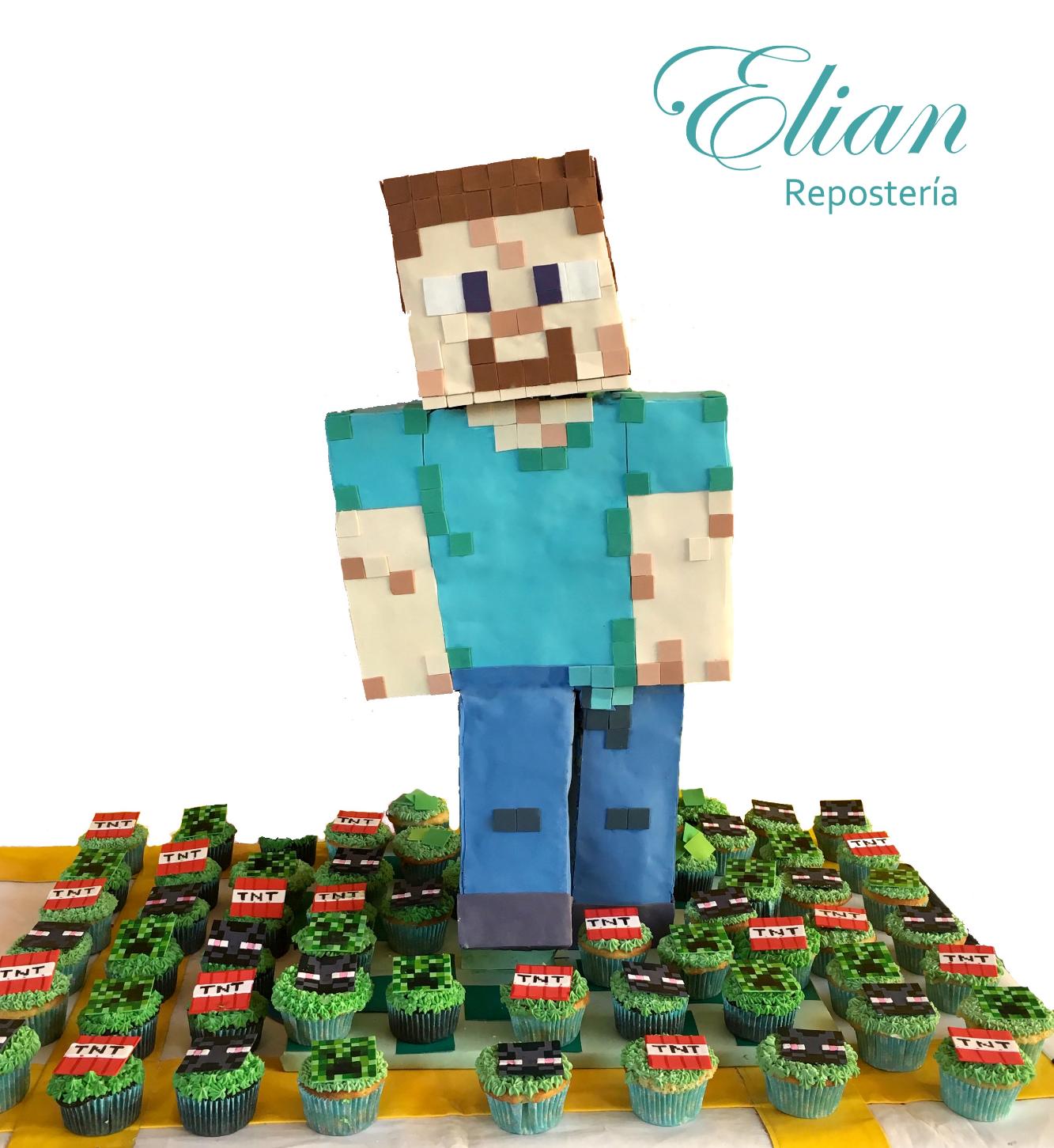 Pastel Minecraft 3D steve