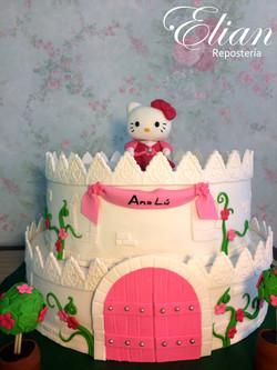 Pastel de Hello Kitty fondant