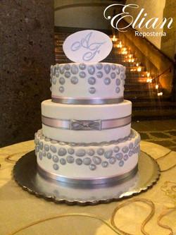 Pastel de bodas fondant mexico