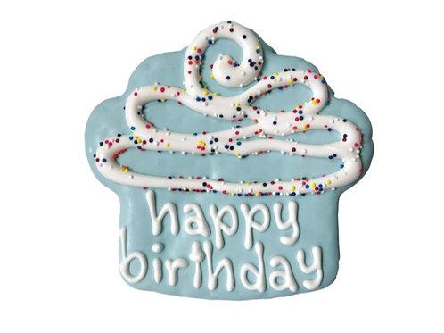 "Bosco & Roxy's Pre-packaged Happy Birthday Blue Cookie 4"""