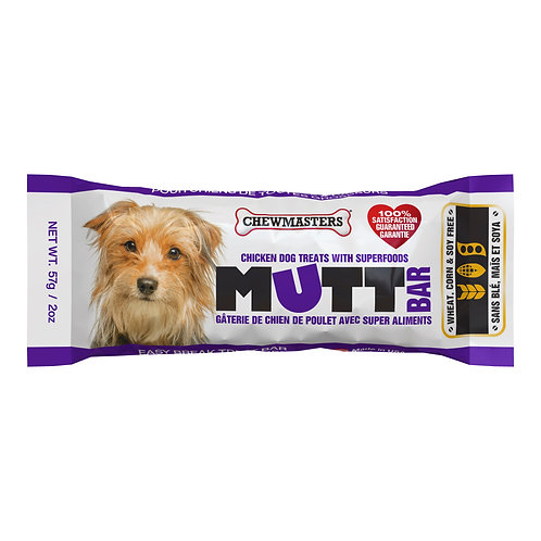 Chewmasters - Mutt Bar - Chicken Treat Bar with Superfoods