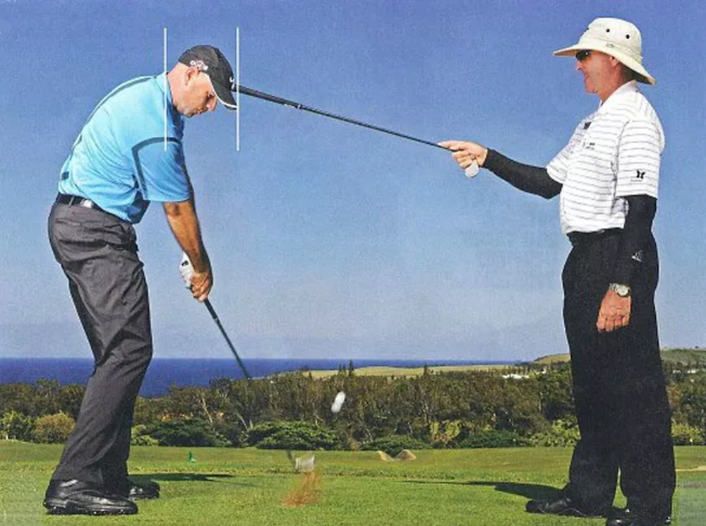 correcting golf swing spine angle