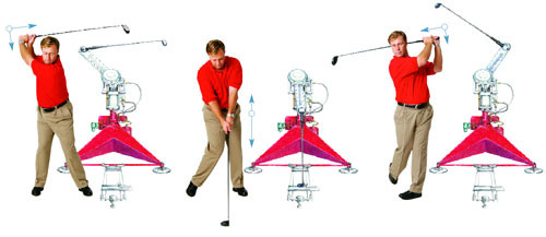Iron Byron golf swing sequence