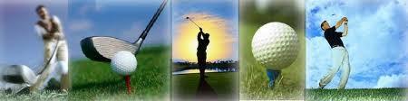 golf club and golf ball banner