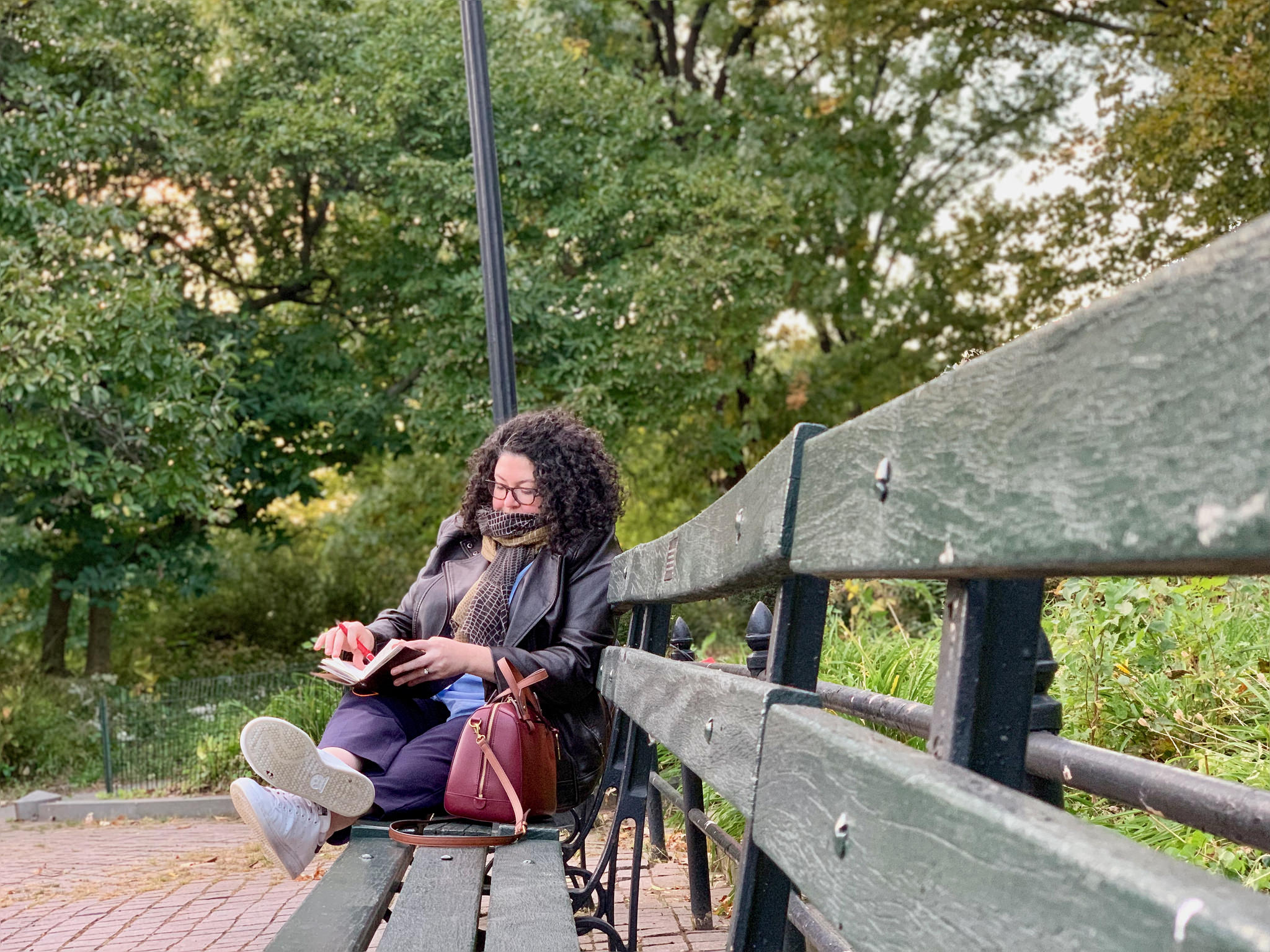 Writing in Central Park, NY