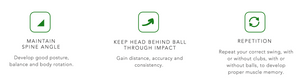 tips while using pro-head 2 golf swing trainer