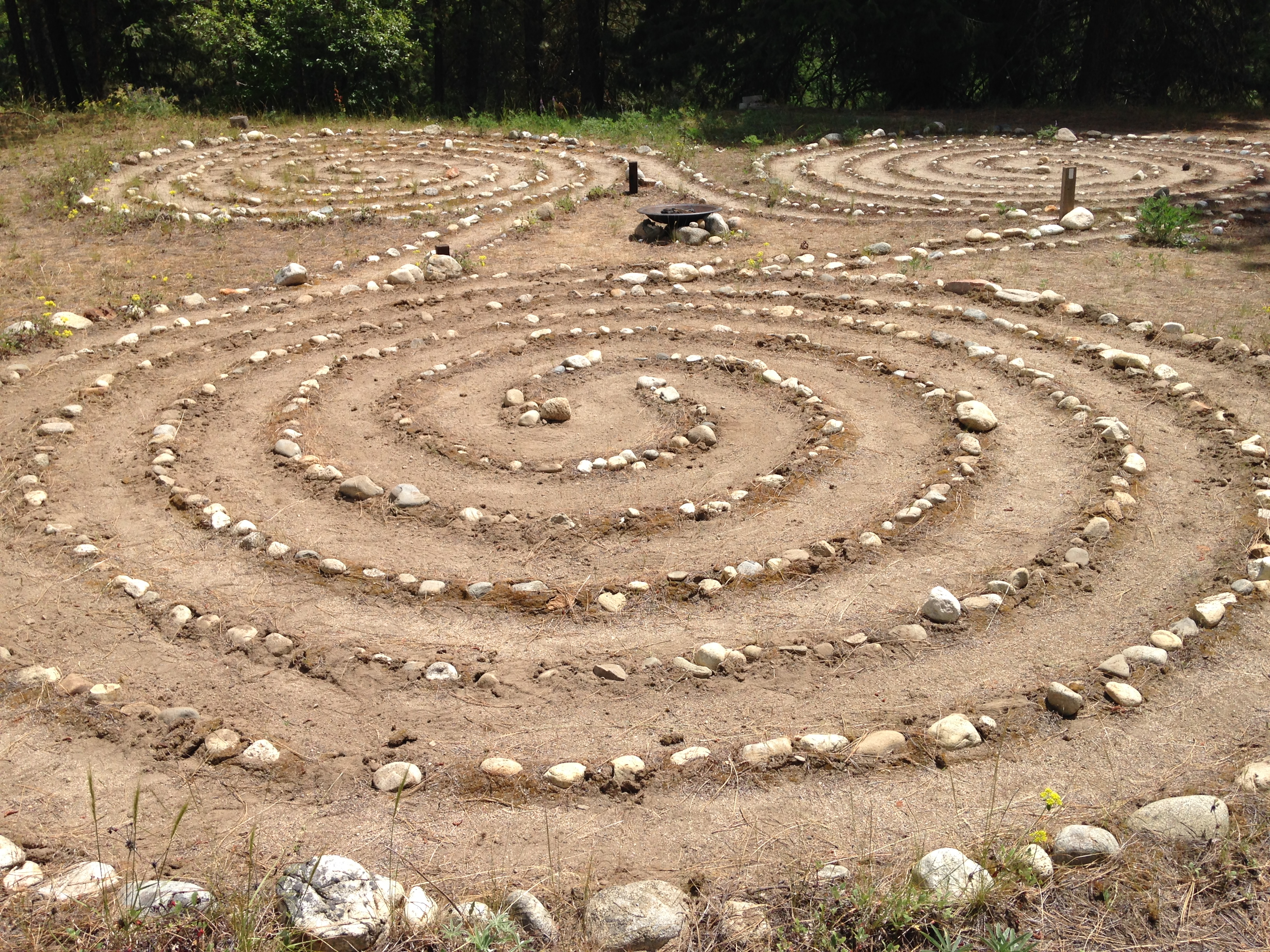Celtic Triple Spiral Labyrinth