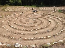 Celtic Triple Spiral Labyrinth