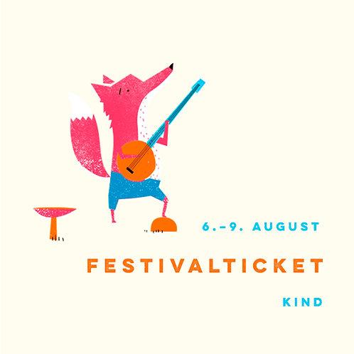 Kind (ab 4 - inkl.12 Jahre) Festivalticket Fr.-Mo.