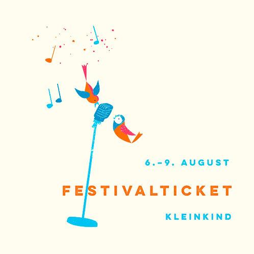 Kleinkind (0-inkl. 3 Jahre) Festivalticket Fr.-Mo.