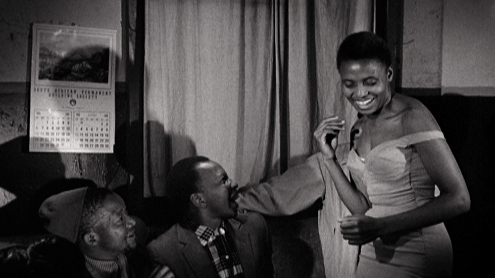 Miriam Makeba performs in the film 'Come Back, Africa' by Lionel Rogosin in 1960