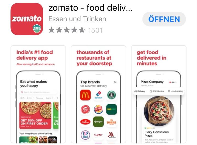 Wo welche Restaurants sind findest Du auf Zomato