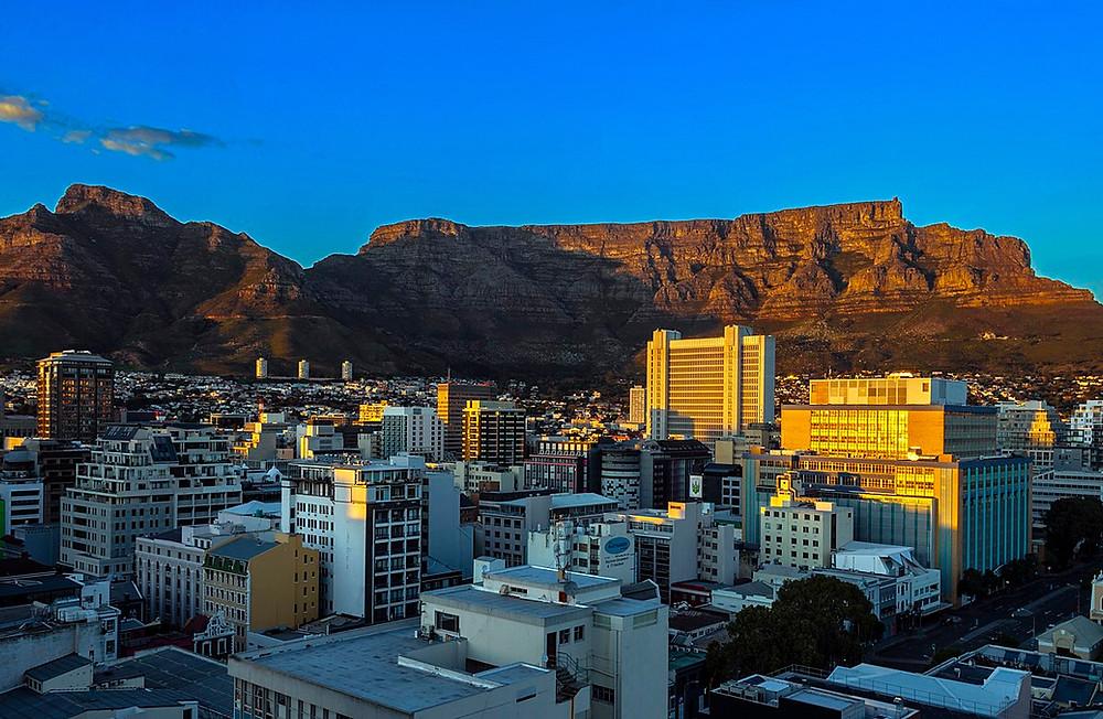 Leere Straßen in Kapstadt