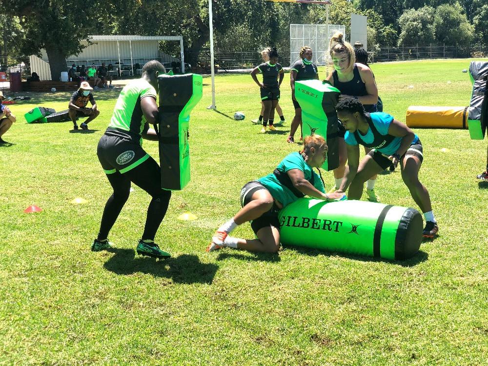 Springbok Women trainieren Körper und Geist