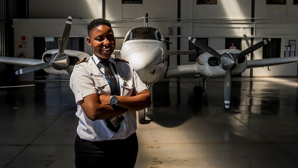 Pilotin Südafrika