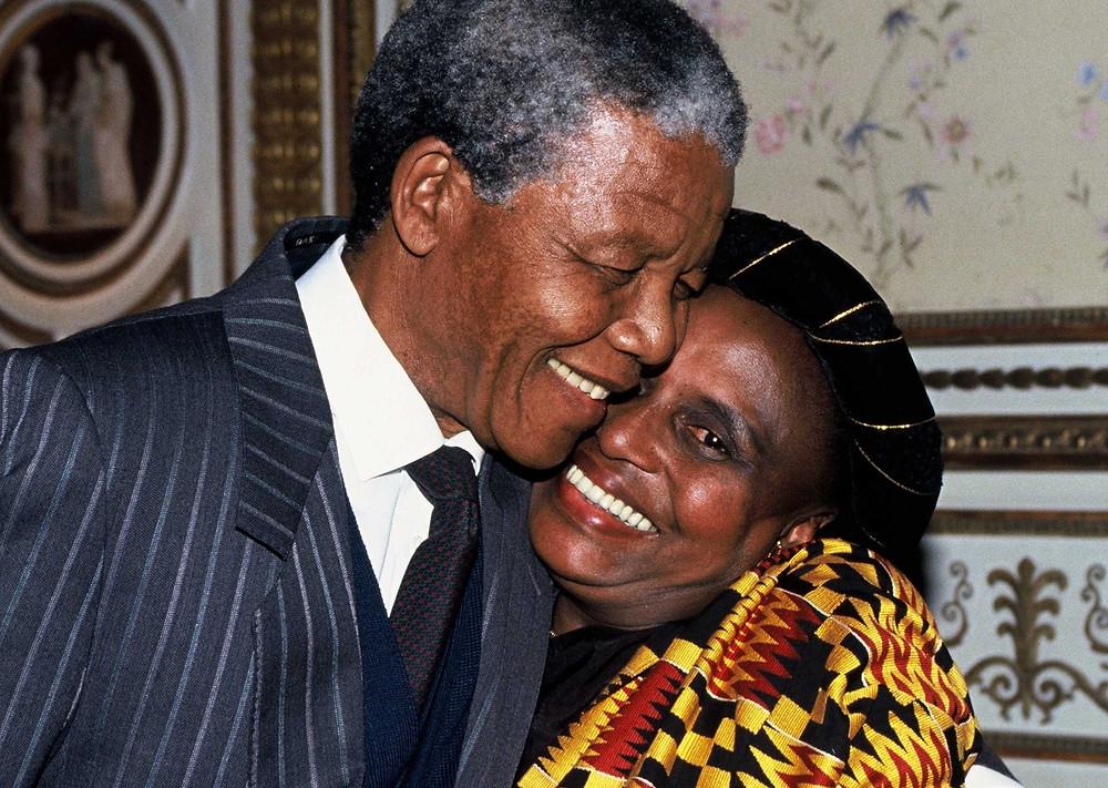 Mandela und Makeba 1990 in Stockholm Foto; IPA Press