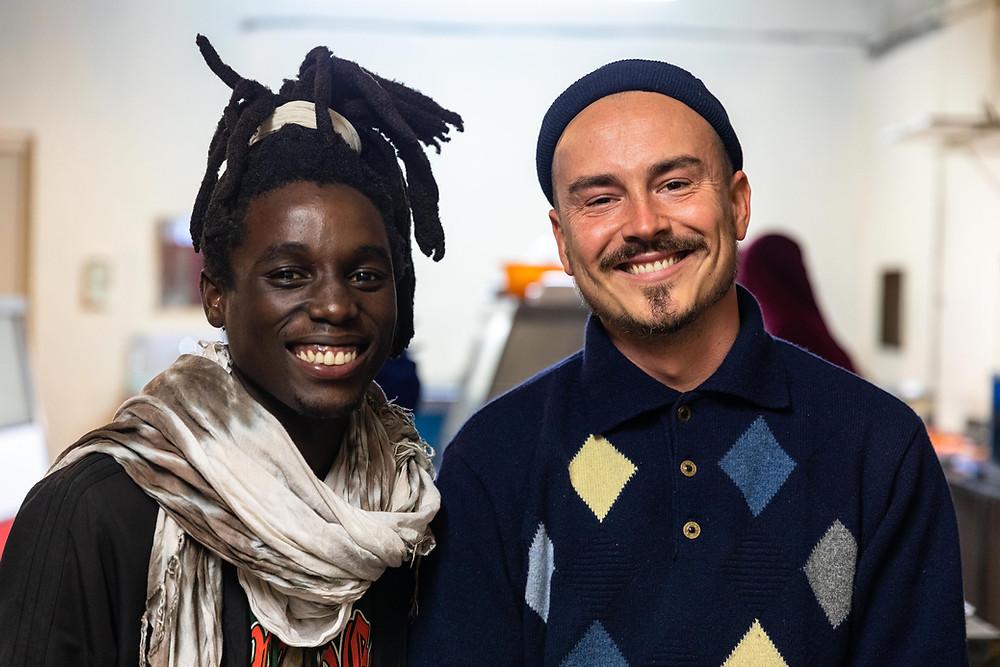 Khofi & Dennis, die Tourguides der Food-Storytelling-Tour. Foto: Yann Macherez
