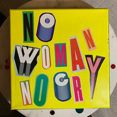 Collage Typography Painting「No Woman No Cry」6/14