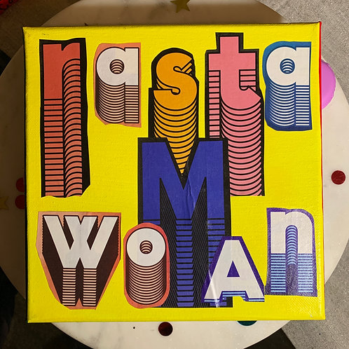 Collage Typography Painting「Rasta Woman」11/14