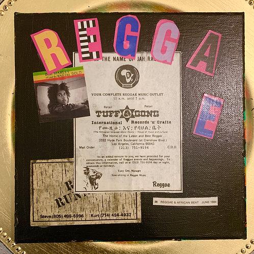 Collage Typography Painting「Rasta man select reggae」4/4