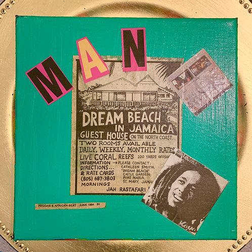 Collage Typography Painting「Rasta man select reggae」3/4