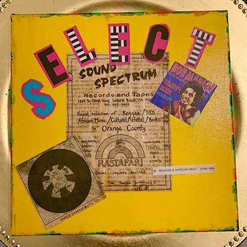 Collage Typography Painting「Rasta man select reggae」2/4