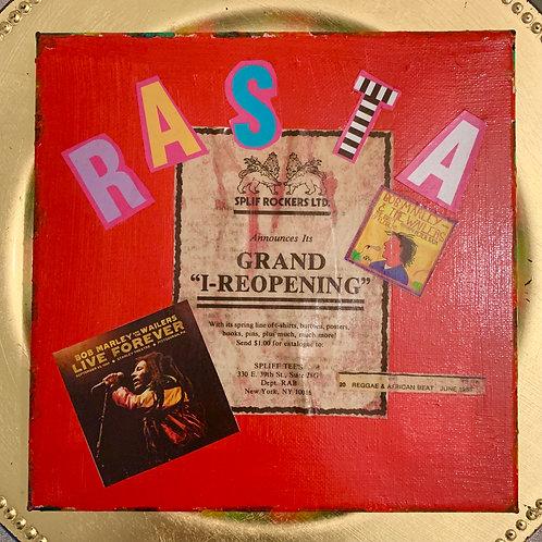 Collage Typography Painting「Rasta man select reggae」1/4