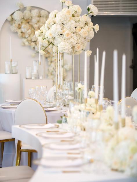 luxury wedding planner in cape town white wedding