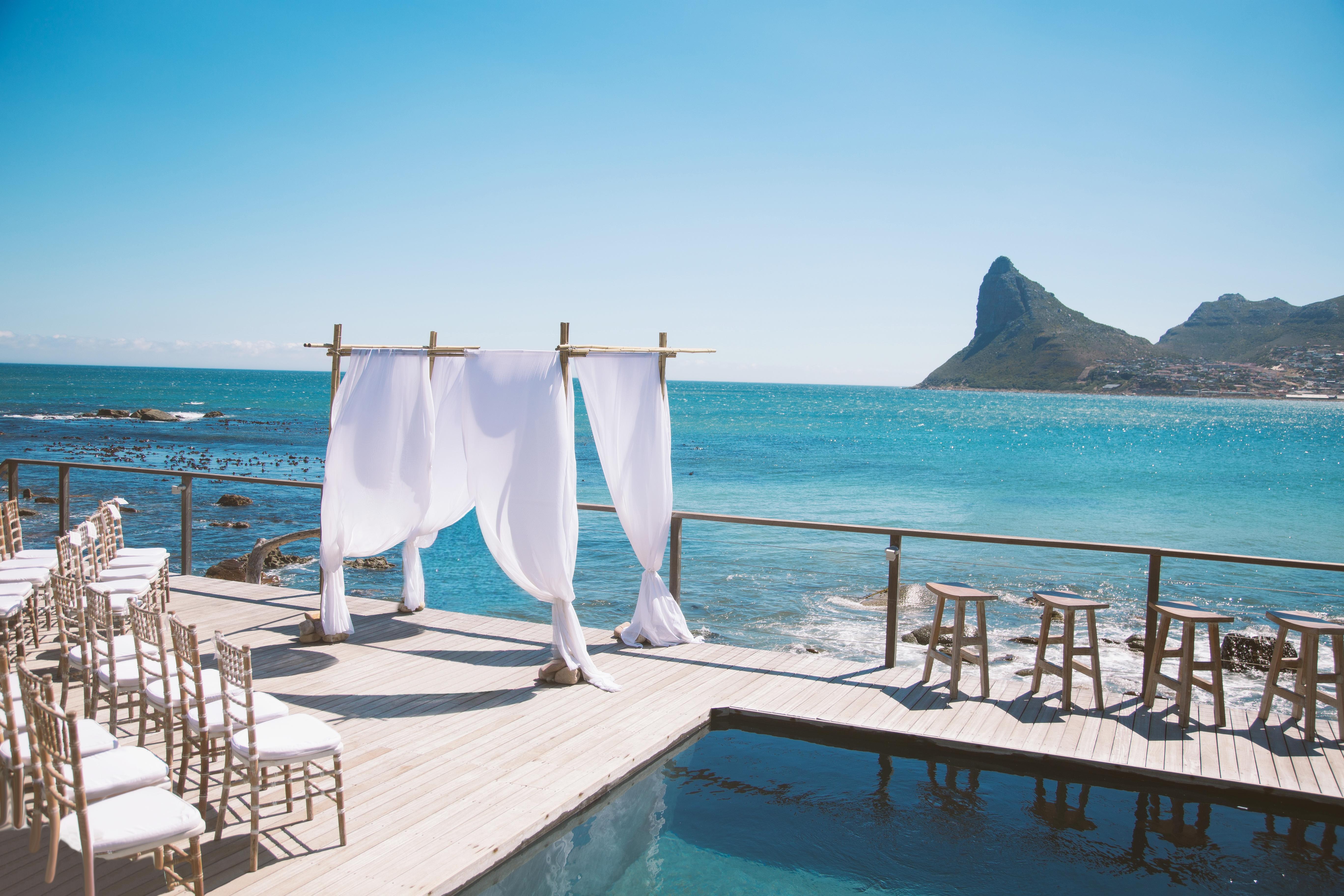 beach wedding by cape town planner
