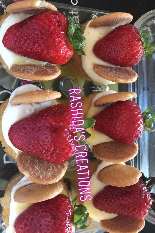 Strawberry Banana Pudding Cupcakes