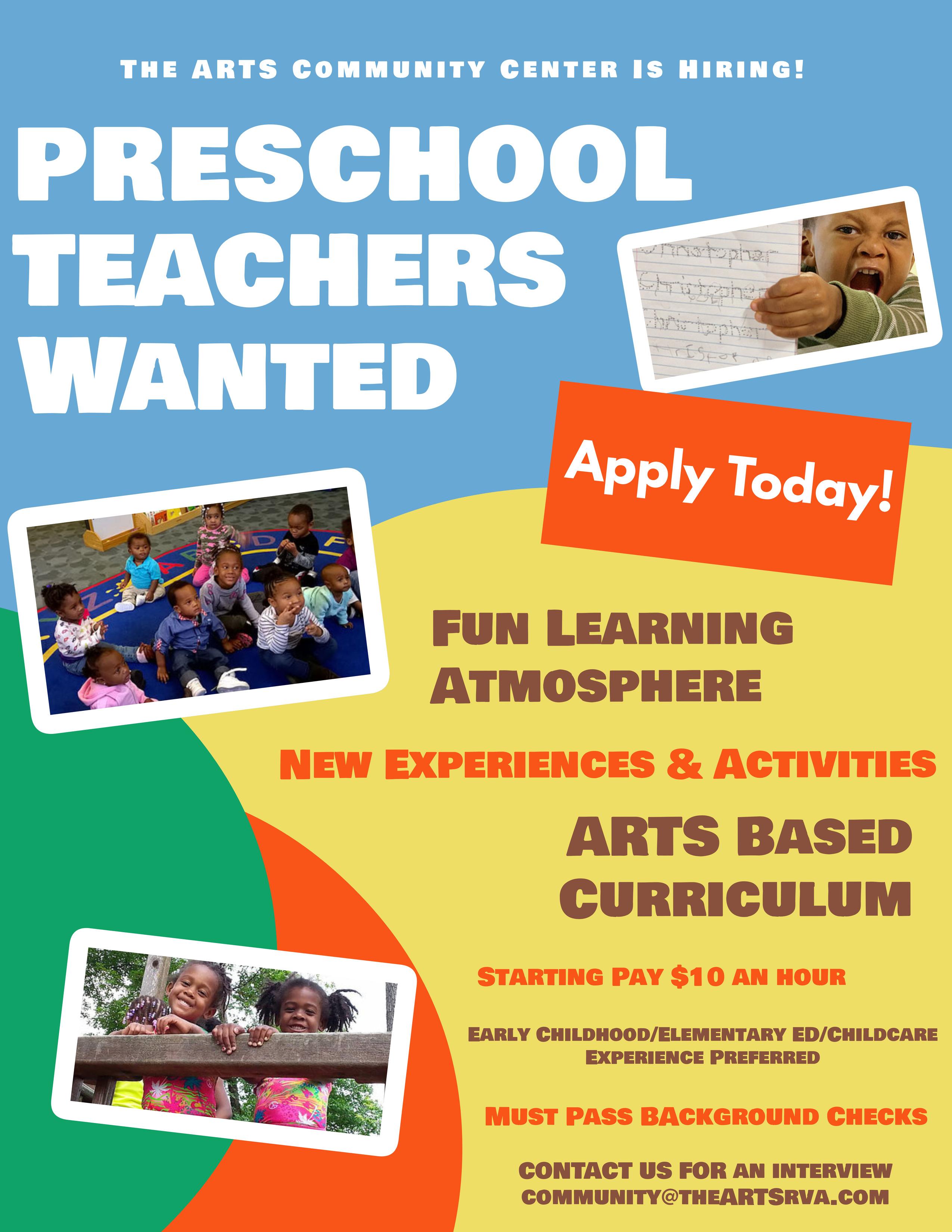 Preschool Teachers Wanted (1)