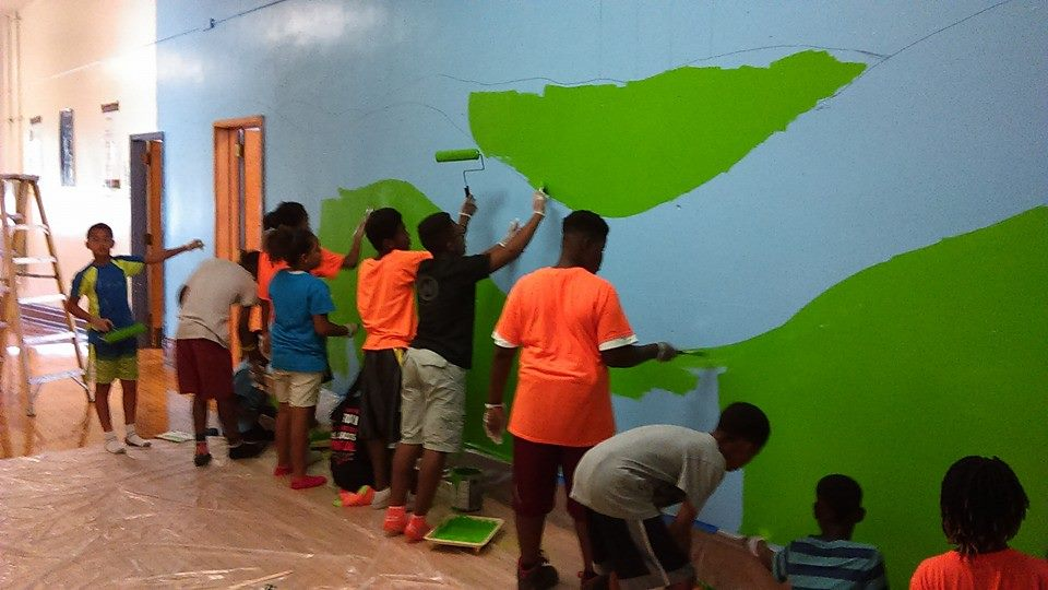 school mural painting The ARTS