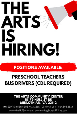 The ARTS is Hiring Poster
