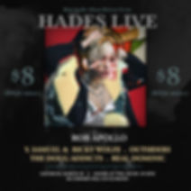 """HADES LIVE"" Flyer"