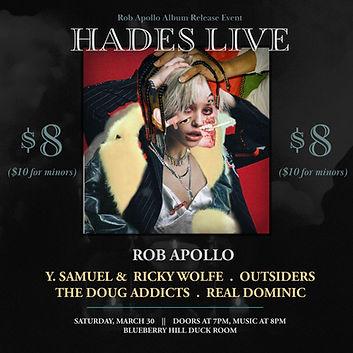 """HADES LIVE"" Flyer"