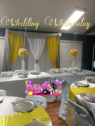 Yellow And Silver Wedding Decoration