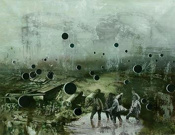 Symphony of the Orphans, 2014, oil on canvas,135x175cm