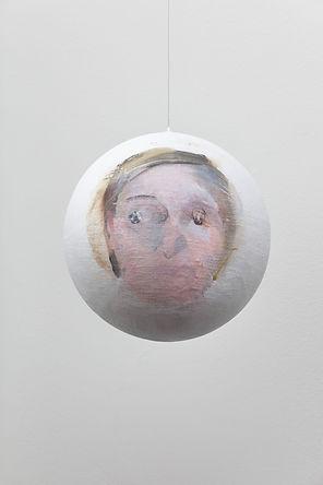Marika, 2019, acrylic on canvas on a sphere,Ø 31 cm