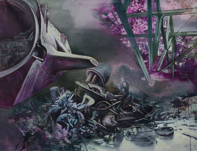 Curse of Medusa, 2014, oil on canvas, 135x175cm