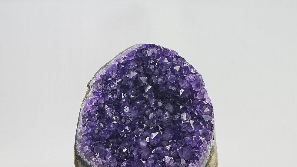 Natural Uruguayan Amethyst Geode Crystal Cluster  A00001