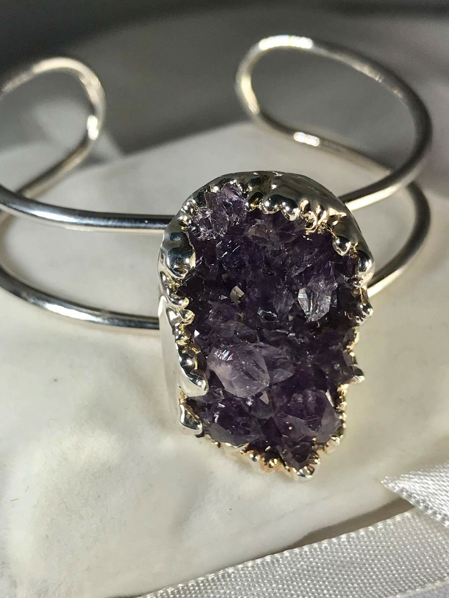 Amethyst Natural Bangle S