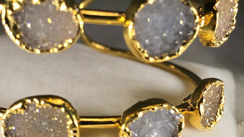 Druzy Multi-Stone Bangle (Adjustable) GJB00015