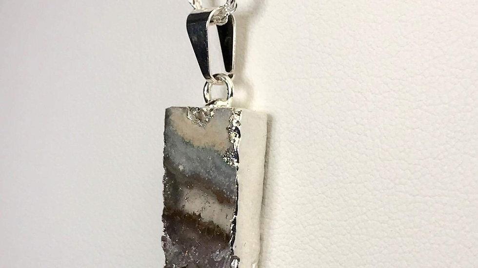 Amethyst Sliced Pendant (Rectangle) SJP00034
