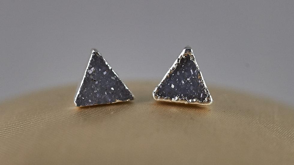 Druzy Triangle Stud Earrings SJE00001