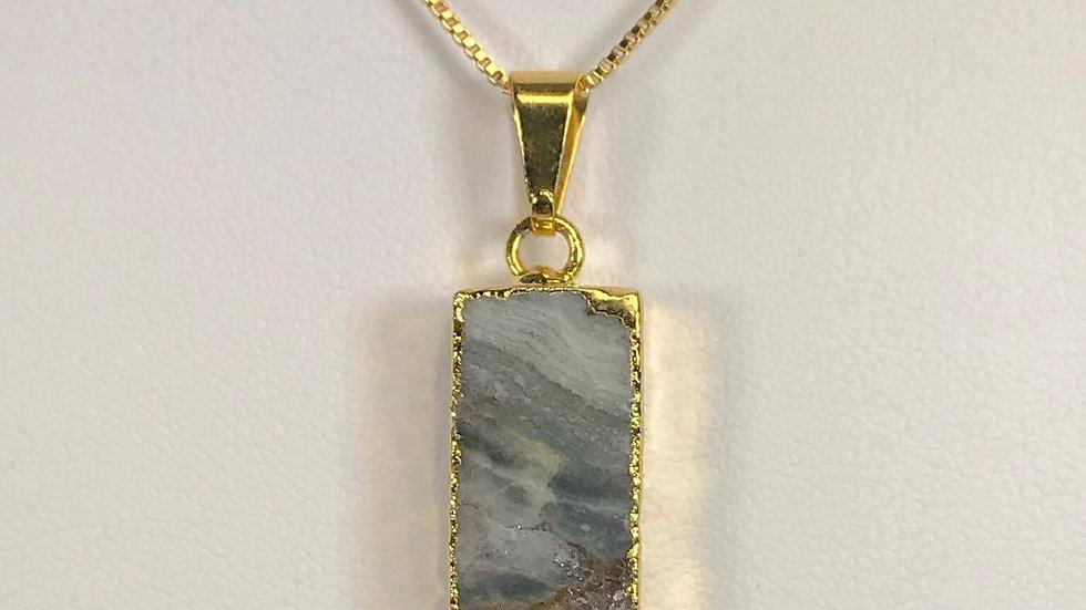 Amethyst Sliced Pendant (Rectangle) GJP00033