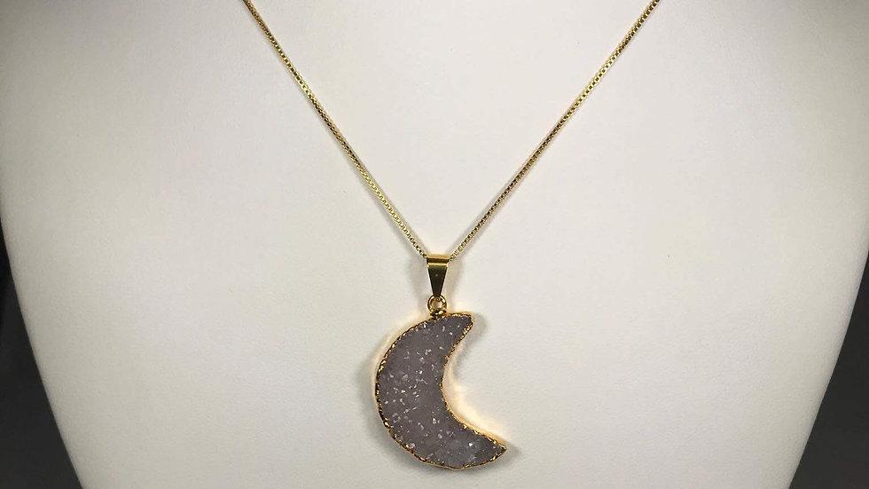 Druzy Moon Pendant (L) GJP00006