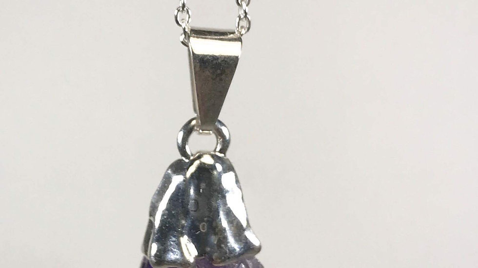 Amethyst Natural Raw Points Pendant SJP00025