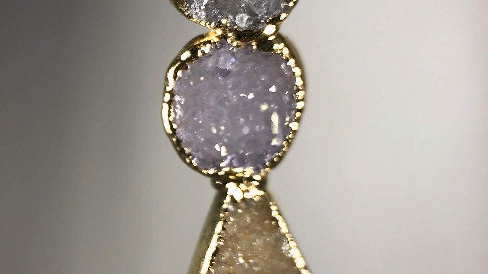Druzy Triple Stone Pendant GJP00090